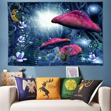 Colorful Psychedelic Tapestry Wall Hanging Mushroom Decorative Wall Tapestry Forest Hippie Boho Wall Cloth Art Decor 200cm*300cm new arrival background fundo wild forest house 300cm 200cm about 10ft 6 5ft width backgrounds lk 2951 page 6