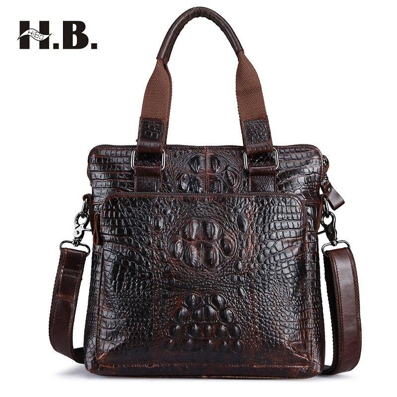 ФОТО Genuine Leather bag Business Men bags Totes Briefcases Crossbody bags Shoulder Handbags Men's Messenger Bag