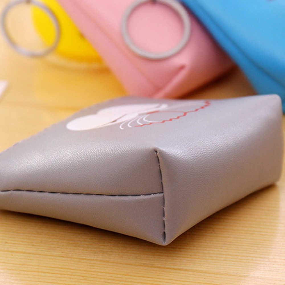 Милый мультфильм ноль кошелек забавные выражения Искусственная кожа для монет сумка с кольцом для ключей