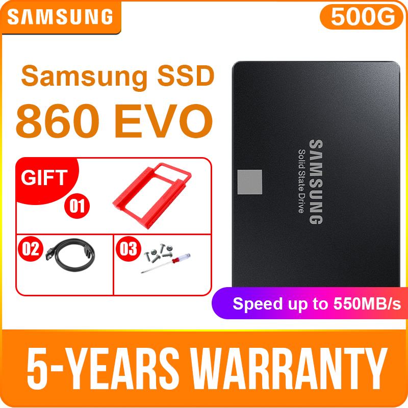 "SAMSUNG 860 EVO SATA3 SSD 250GB 2.5"" Internal Solid State Disk 500GB 1TB SSD HDD Hard Drive For Laptop Desktop PC(China)"