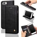 Пальца Слайд Карт Бумажника Case Для iPhone 7 iPhone 6 S Plus 5S Роскошные Магнит Кожа Флип Случаи Обложка для Коке iPhone 7 plus iPhon7