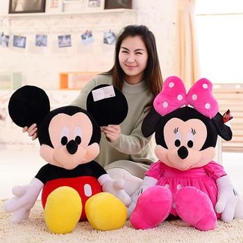 цена на Very Good Hot New Cute Mickey Mouse and Minnie Mouse Plush Toys Stuffed Cartoon Figure Dolls Kids Baby Christmas Birthday Gift