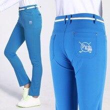 Pgm Golf Pants Lady Women Clothes XS-L Hight Elasticity Sportwear Female Slim Pant Trouser Pencil Golf Tennis Solid Trousers