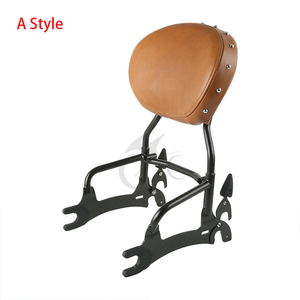 """Image 3 - Motorcycle 12"""" Backrest Sissy Bar With Pad Luggage Rack For Indian Chief Classic Vintage Chieftain 2014 2018 Roadmaster 14 Style"""