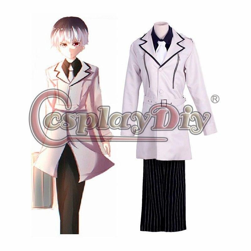 Cosplaydiy Anime Tokyo Ghoul Sasaki Haise Cosplay Costume adulte hommes Halloween Cosplay tenue sur mesure D0301