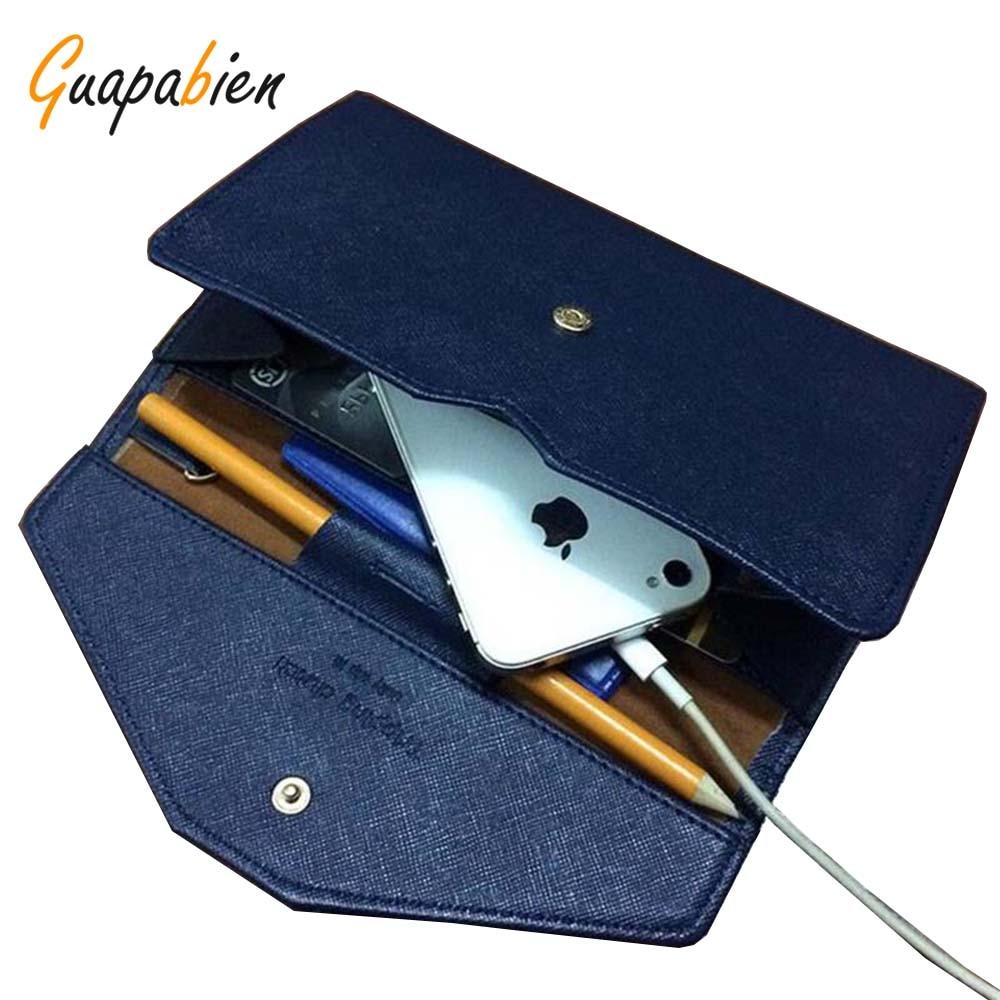 fc969567db28 Guapabien Vintage Women Clutch Wallet Hasp PU Leather Long Wallets Korean  Money Bag Case Phone Envelope