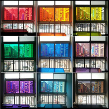 60cm wide glass window stickers sunscreen film transparent color shading insulated sliding door decorated living room home