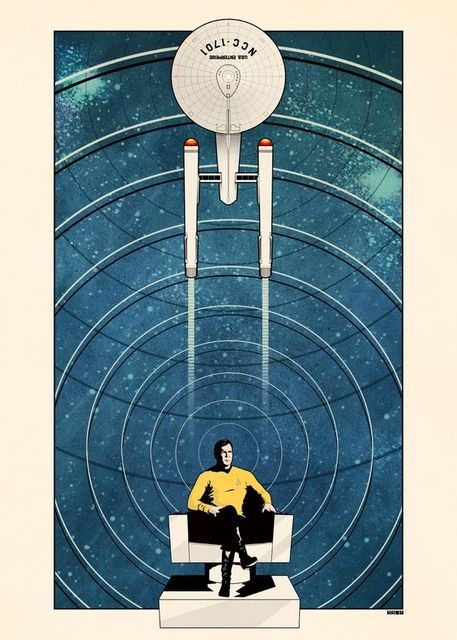 Star Trek Spock in NCC.1701 Propaganda Retro Vintage Kraft Poster