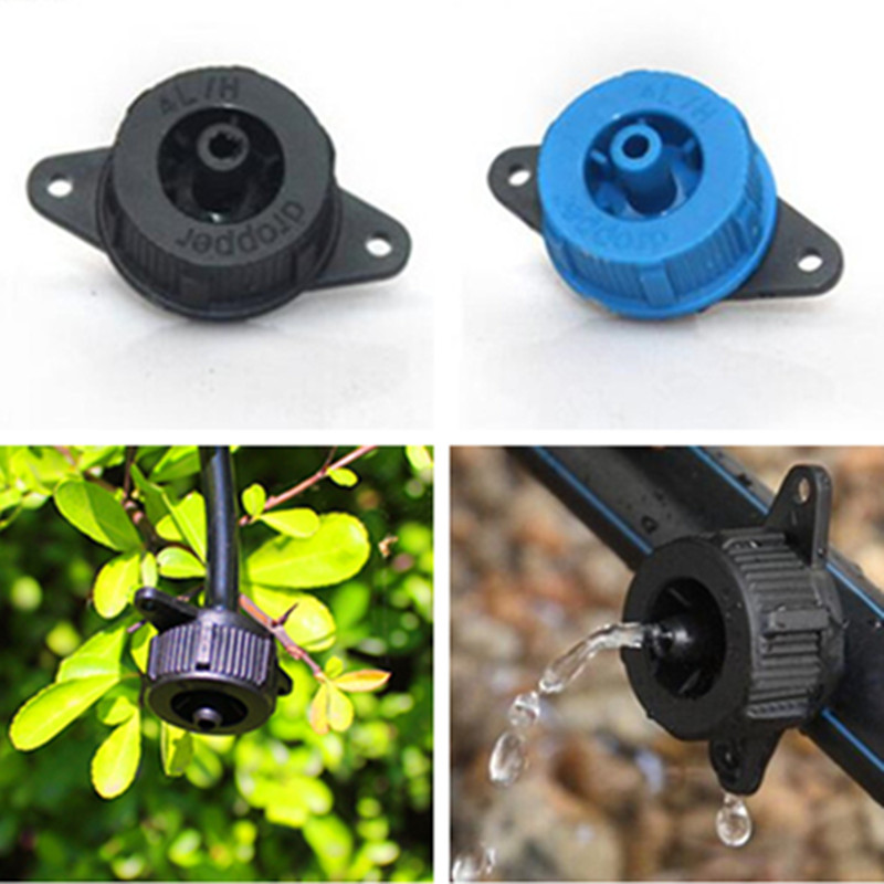 50pcs/pack 4L/H 8L/H Pressure Compensating Drip Irrigation Emitter - Turbo Style On Line Dripper Garden Watering N116