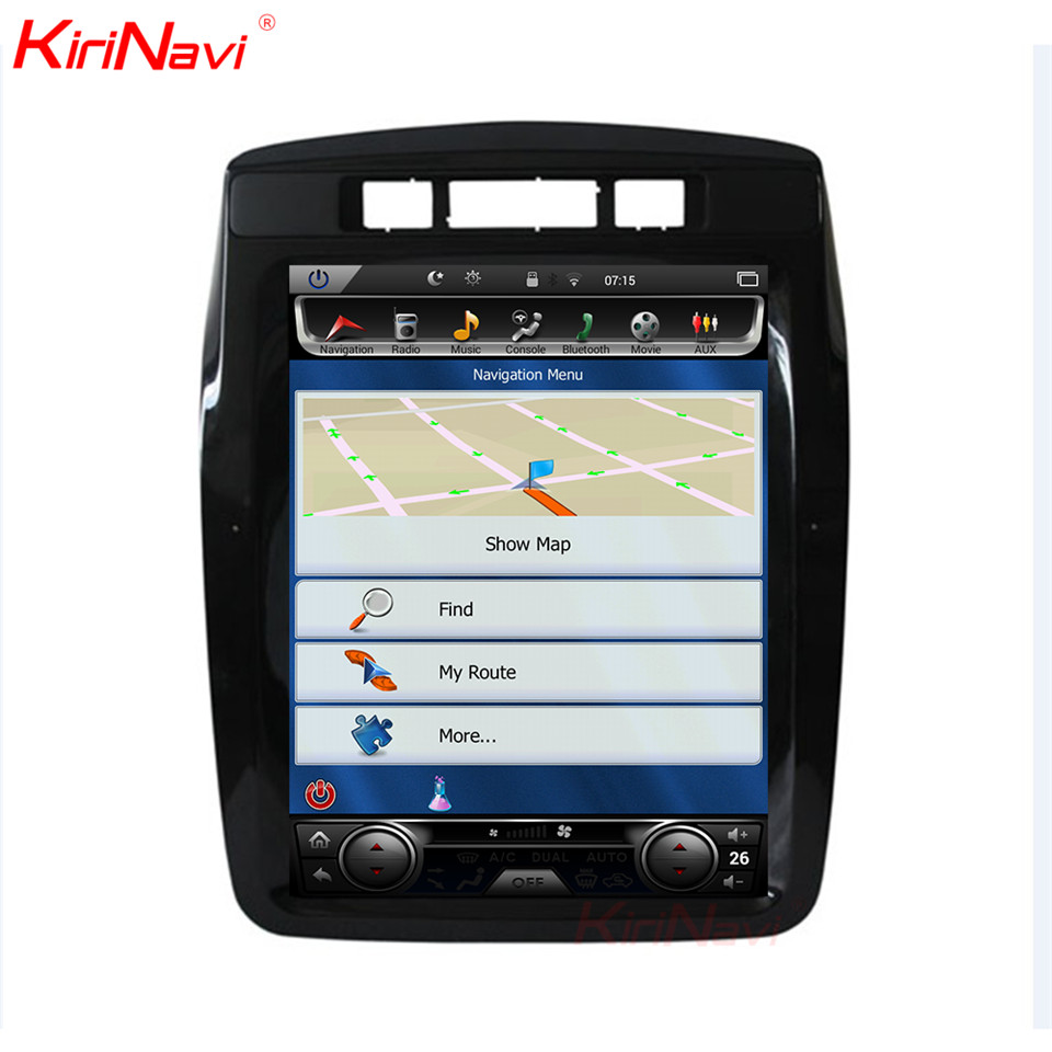 KiriNavi Vertical Screen Tesla Style 10.4 Inch Android 6.0 Car Radio Dvd or VW Touareg GPS Navigation Multimedia 2010 2017