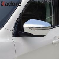 Para nissan qashqai 2014 2015 2016 2017 2018 abs cromado porta lateral espelho retrovisor capa trims acessórios do exterior do carro