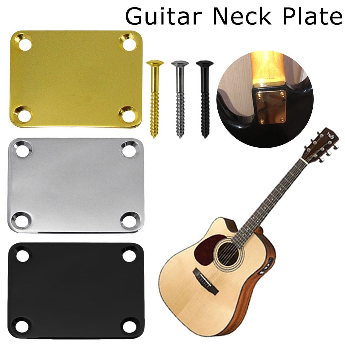 Электрогитара, Шейная пластина, Шейная пластина, фиксатор, Теле гитара, шейный шарнир, плата с 4 винтами, аксессуары для гитары|Детали и аксессуары для гитар|   | АлиЭкспресс