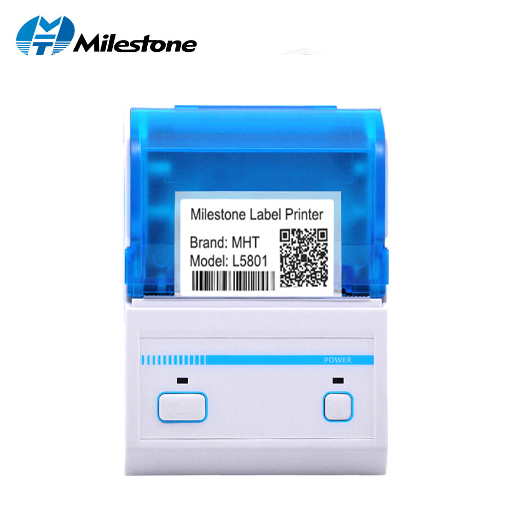Milestone Bar Code Printer 2inch Pos Label Printer Bluetooth Barcode Android Tablet With App Thermal Printer MHT-L5801