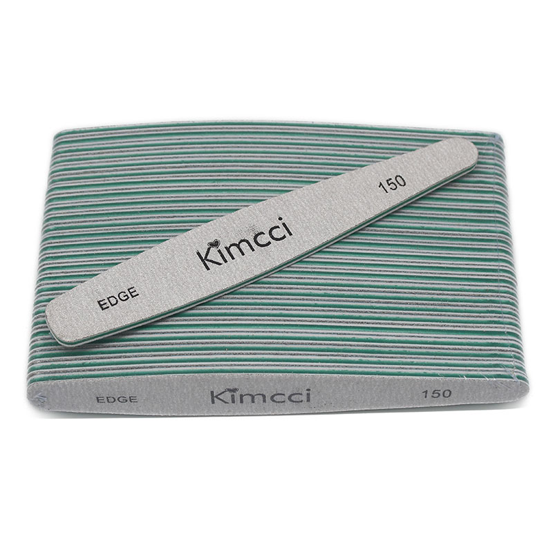 купить Kimcci Top quality 25pcs/Lot Nail Files Manicure Tools EDGE 150 Sanding Blocks Slim Buffer Nail Art Salon Supplies по цене 611.3 рублей