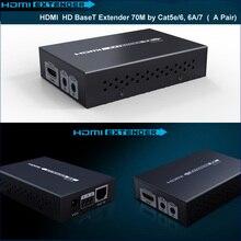 HDBaseT HDMI Extender 70เมตร4พัน* 2พัน3D HDBaseT HDMI IRระยะไกลLAN Extender Repeaterกว่าRJ45 CAT5E/6, CAT6A/7 HDMI 1.4โวลต์ได้ถึง70เมตร