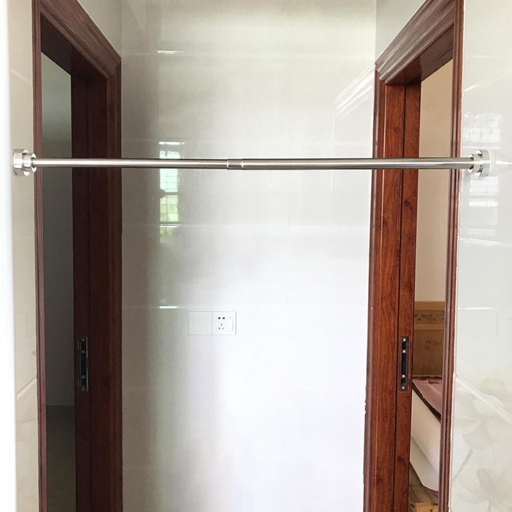 1pc 50cm Adjustable Spring Loaded Home Bathroom Shower Curtain Rod Tension Extendable Telescopic Poles Rail Hanger