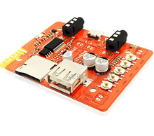 цена на 5V Wireless Bluetooth Audio Receiver Board Module For Automotive Audio With Stereo Amplifier Headphone USB Adapter