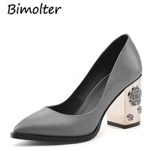 ФОТО bimolter fashion genuine leather pumps high quality floral heels 8.5cm women platform dress wedding casual shoes  7color lcsa004