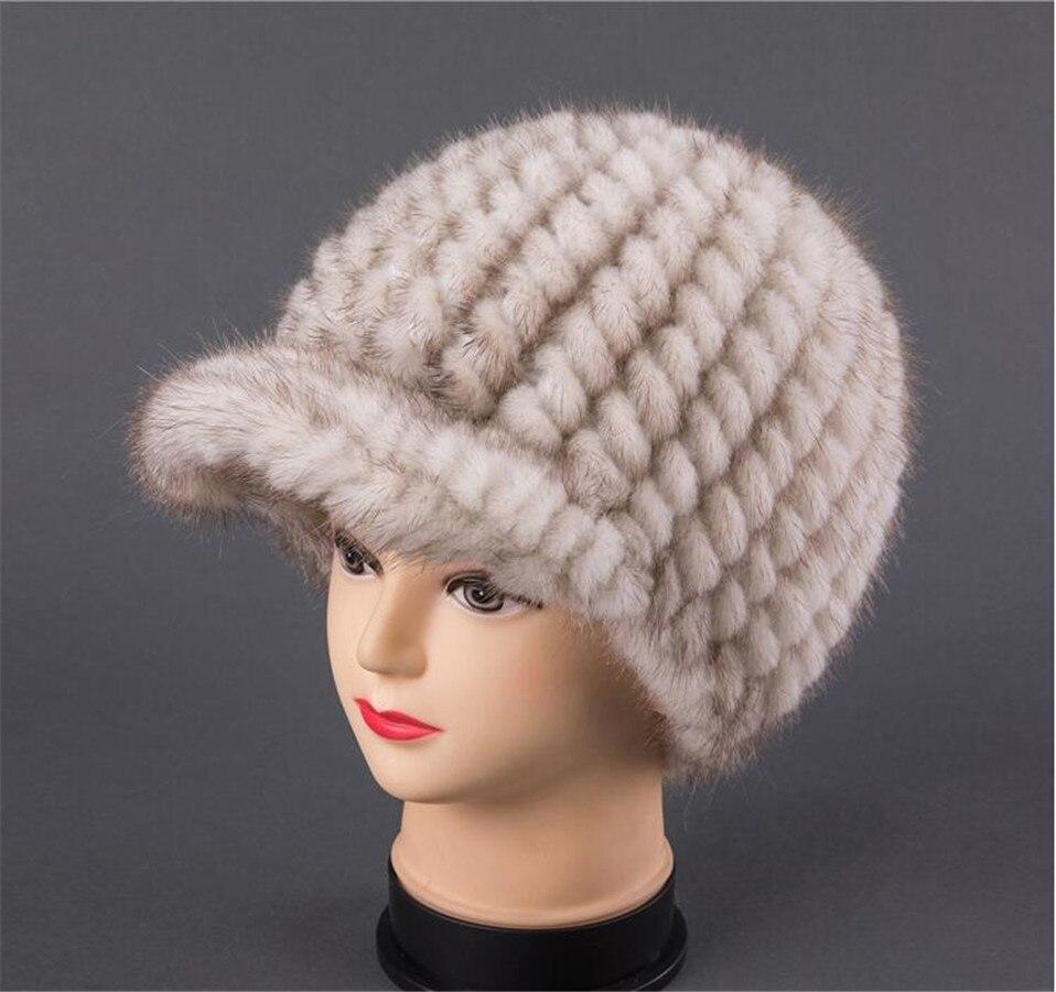 Норковая шапка женская зимняя норковая меховая шапка для отдыха, алмаз, осень зима, Корейская версия, теплая Бейсболка, полностью из норки. ... - 5