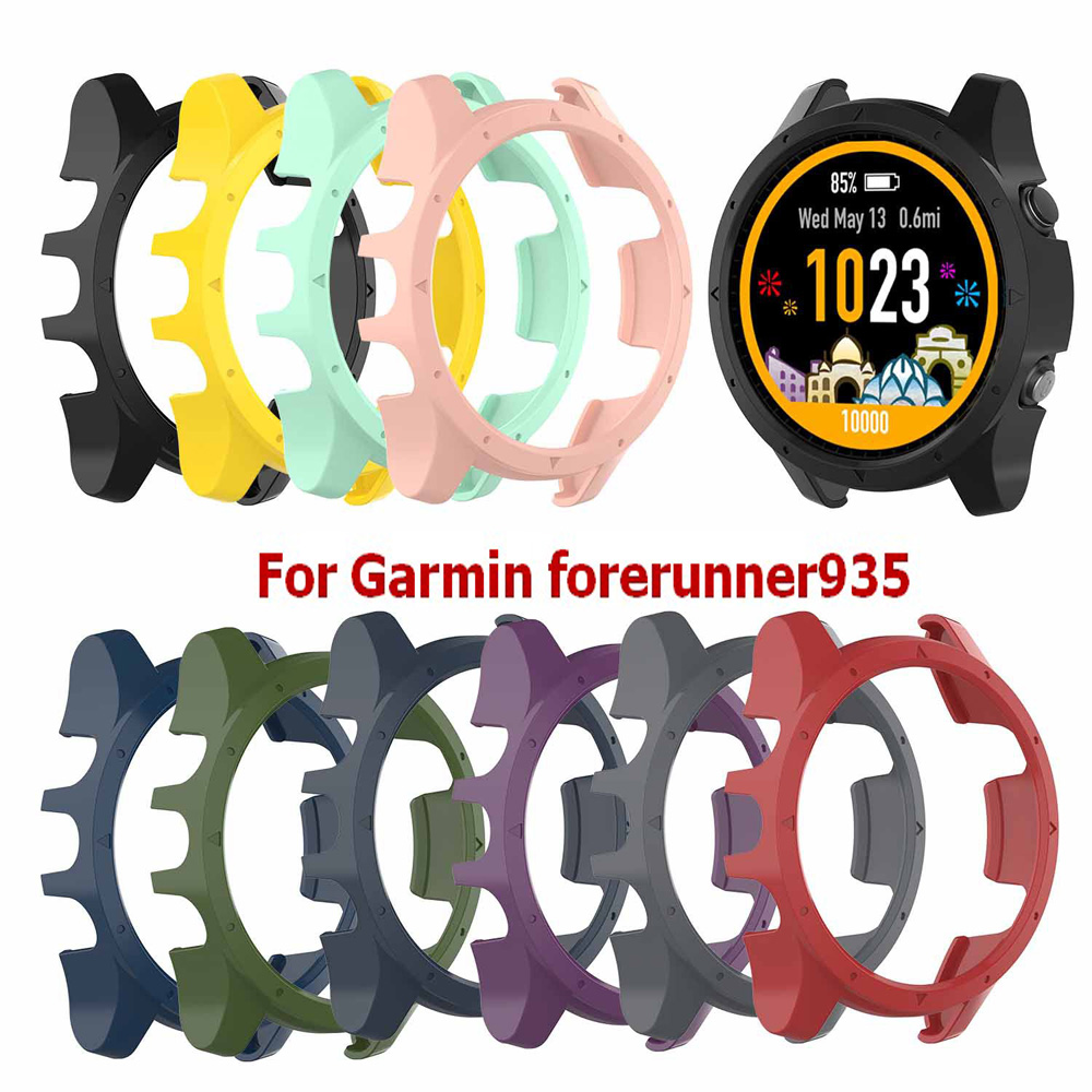 Silicone Protective Cover Case For Garmin forerunner 935 Watch Band Strap Bracelet for Garmin forerunner 935 Protectors Shell new garmin watch 2019