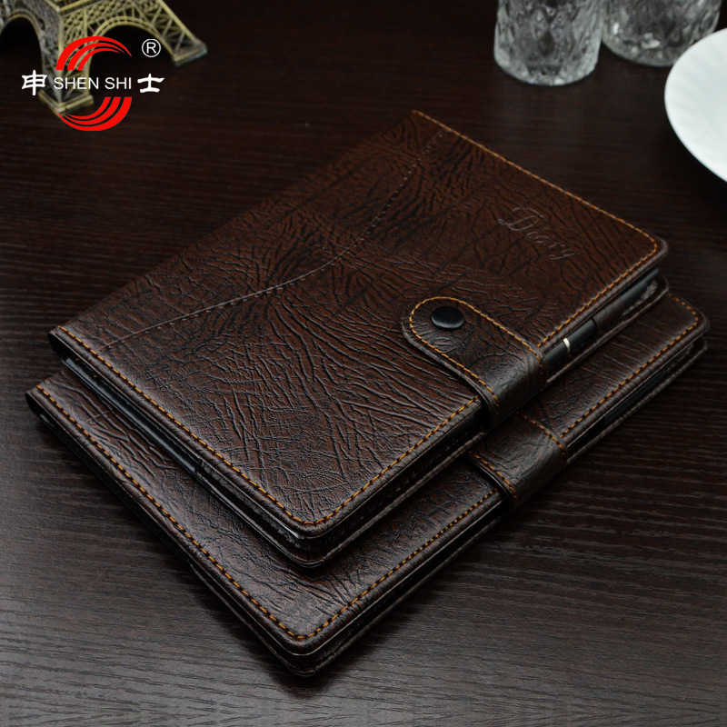 series of practical manual leather belt buckle paperback business advertising notebook Notepad B5/A5/B6/A6 1 pcs 2018 successful teacher workbook this half year edition notepad planner effective time management manual b5