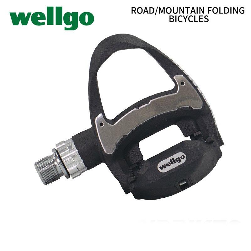 Wellgo R312 Pédale 249g Ultra-Léger Carbone Vélo De Route Pédales automatiques avec 3 Portant look keo Compatible comprennent deux paires crampons