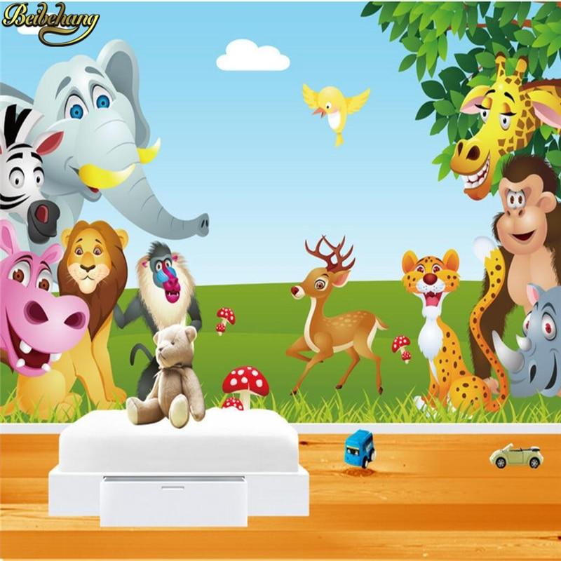 Beibehang Papel De Parede Mural Children Room Cartoon TV Setting Photo Mural Wallpaper For Wall Paper Wall Paper Stickers