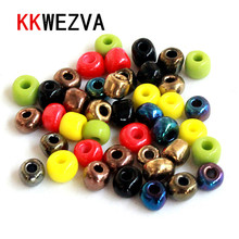 KKWEZVA 200pcs 4mm Fly Tying with Ceramic Colors Material Fishing Accessory for Making fishing fly lures