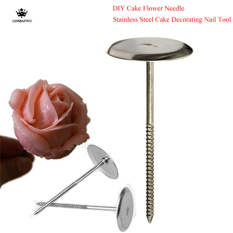 Rose Nail For Cake Decorating: Aliexpress.com : Buy 1Pcs Stainless Steel Piping Nail 3D