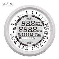 8 Color Backlight GPS Speedometer Tachometer Oil Pressure Water Temp Voltmeter Fuel level Odometer for Auto Boat Gauges 9 32V