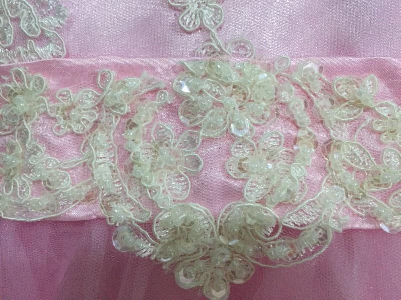 Vruće roza poda cvijet djevojka haljine dugim rukavima 2017 - Vjenčanje večernje haljine - Foto 3