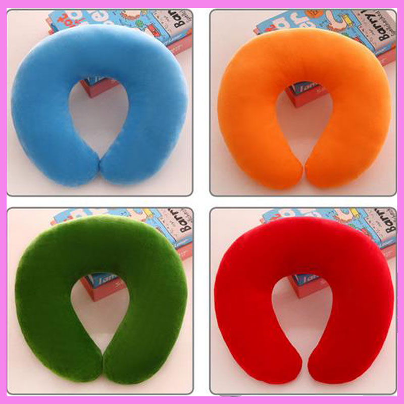 Baby Kids U Shape Pillow Cervical Plush Back Cushion Stuffed Toys Car Travel Neck Support Protection Shaping Pillow Cushion