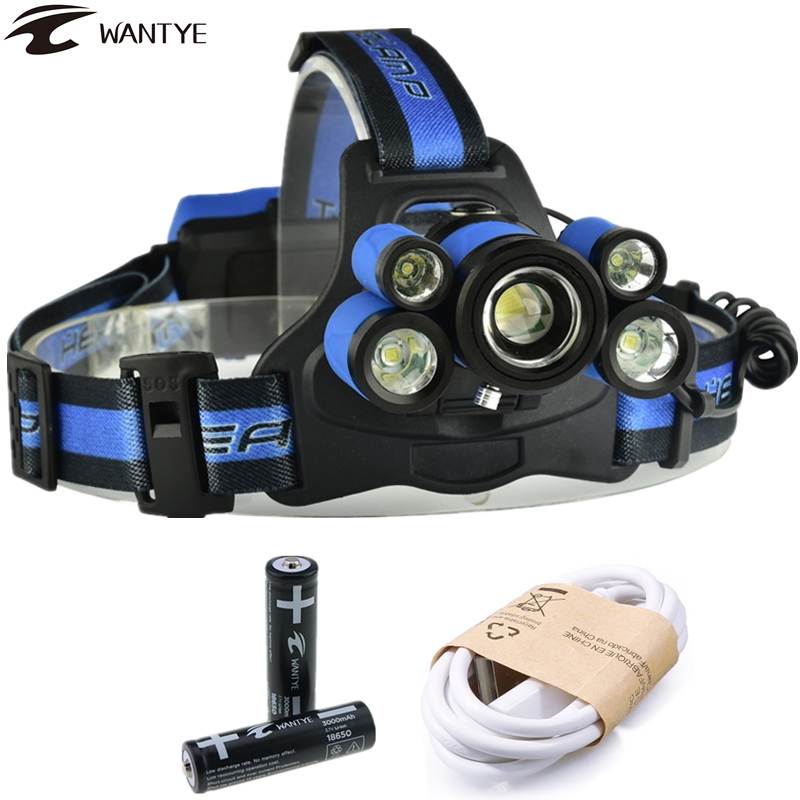 5 LED Bicycle Front Safety Flashlight Torch Light Head Light Lamp TX