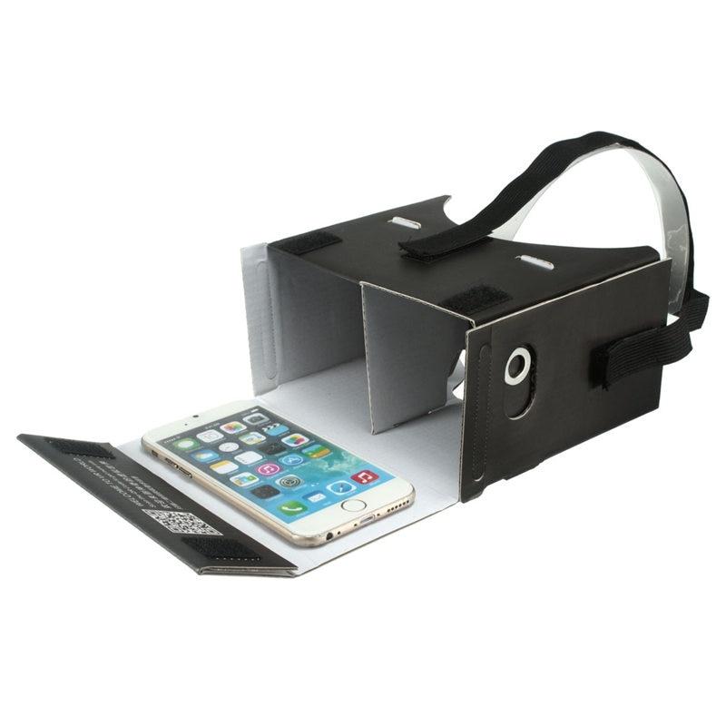 <font><b>Universal</b></font> 3.5-7 Inch Mobile Phone <font><b>DIY</b></font> <font><b>VR</b></font> <font><b>Virtual</b></font> <font><b>Reality</b></font> Cardboard 3D Glasses Headset Head-mount NFC Game <font><b>Video</b></font> Film 3D Glasses