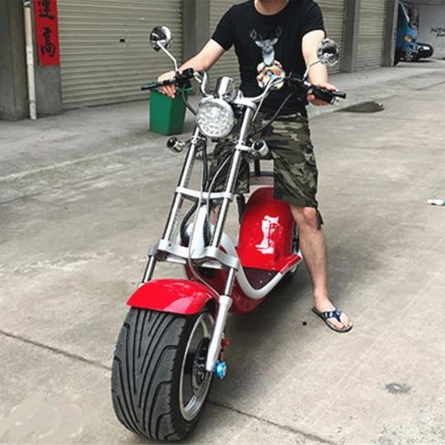 Graisse roue citycoco 1200 w scooter électrique kick scooter 200 kg charge deux roues scooter électrique moto