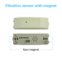 (50 PCS) Wired Vibration Sensor shock detector with magnet easy adsorption on metal surface Bank safety cash Box anti burglar