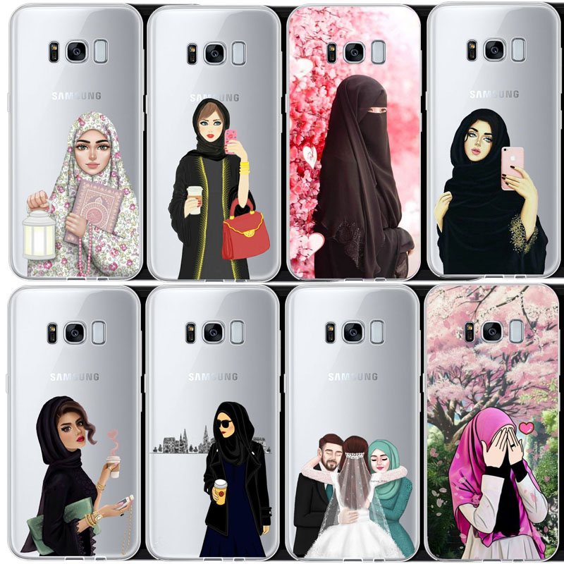 100% Quality Muslim Islamic Gril Eyes Arabic Hijab Girl Soft Tpu Phone Case Cover For Samsung S5 S6 S7 S6edge S8 S9 S8plus Note 2 3 4 8 9 High Standard In Quality And Hygiene