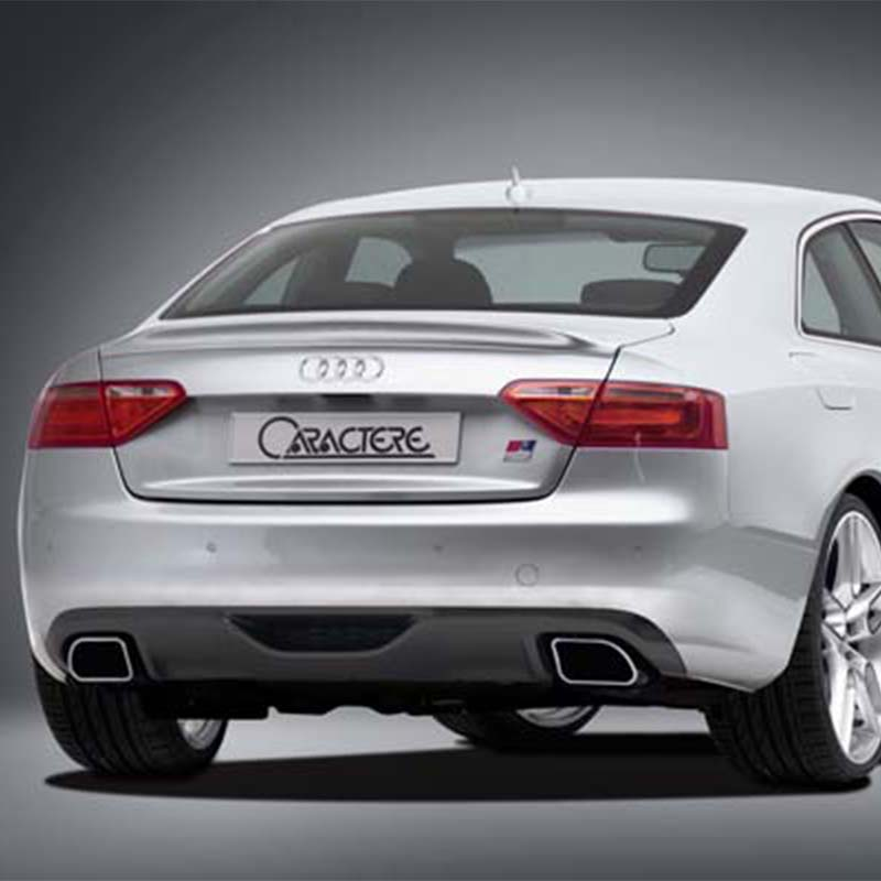 A5 Coupe 2Door Modified Caractere Style FRP Fiberglass Rear Trunk Lip Spoiler Car Wing for Audi A5 Coupe 2009-2016