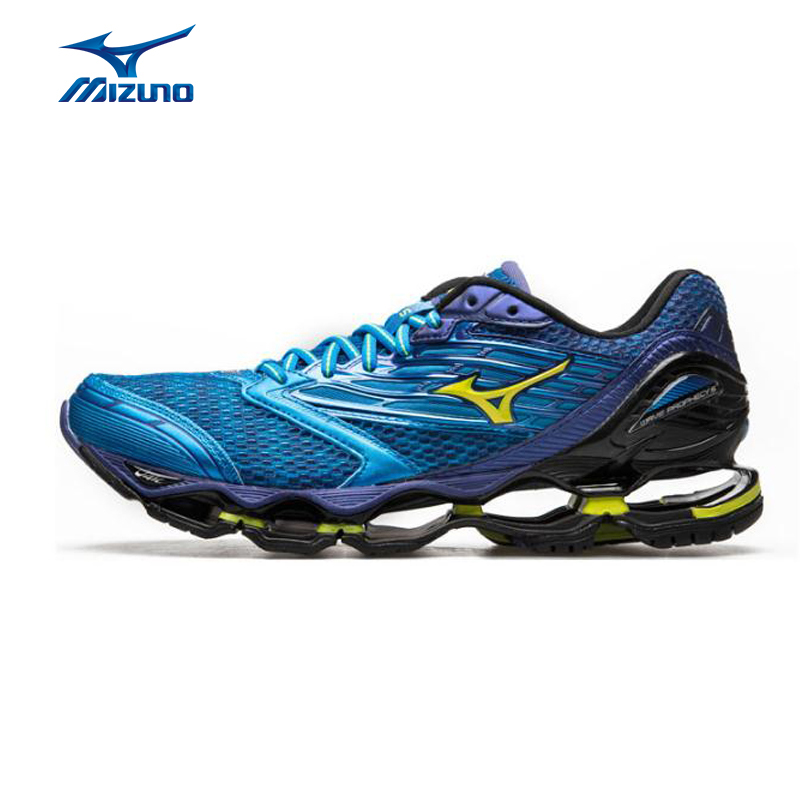 MIZUNO Men Wave PROPHECY 5 Breathable Light Weight Cushioning Jogging Running Shoes Sneakers Sport Shoes J1GC160044 XYP320 mizuno 2 38 5 43 5 mizuno wave prophecy 2