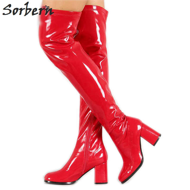 Sorbern Retro Over The Knee High Boots For Women 70 S Gogo Boots