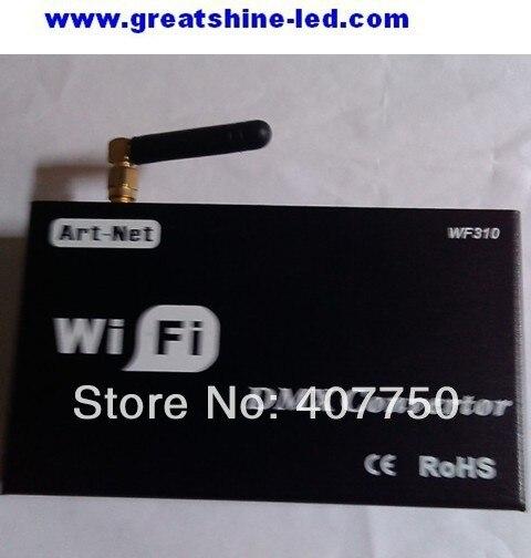 Livraison gratuite vers l'amérique du nord contrôleur Wifi dmx wifi310 utilisé pour console dmx ou décodeur contrôlé par Iphone et Ipad
