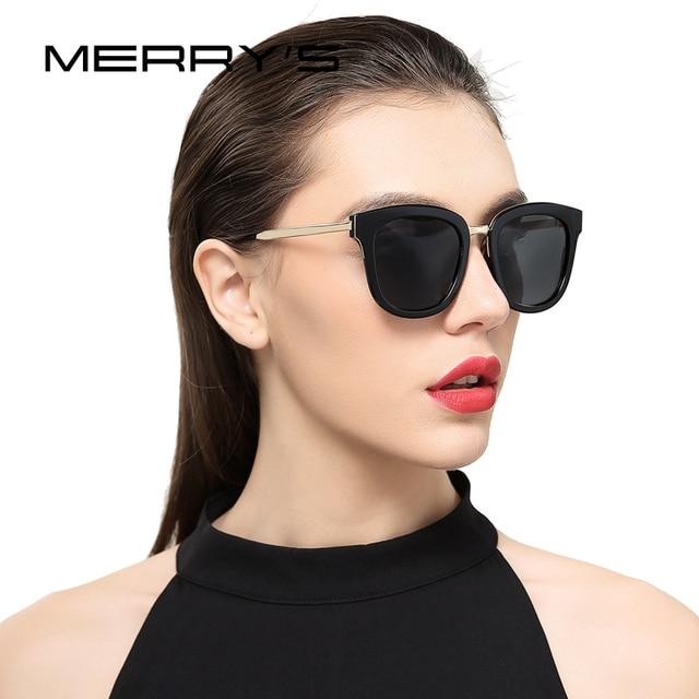 2961491b39 MERRYS Women Classic Cat Eye Polarized Sunglasses Fashion Sun Glasses Metal  Temple 100% UV Protection S6082