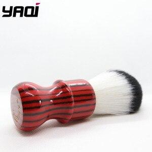 Image 3 - Yaqi רעה זברה 26mm קשר שחור ואדום ידית סינטטי שיער גילוח מברשת