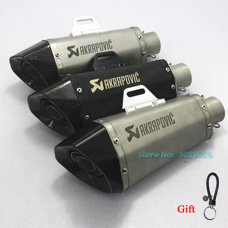 51mm Slip On Motorcycle Universal Carbon Tail Muffler Pipe For Exhaust Z250 Z300 Ninja 250 NINJA 300 CB400 DB killer цена