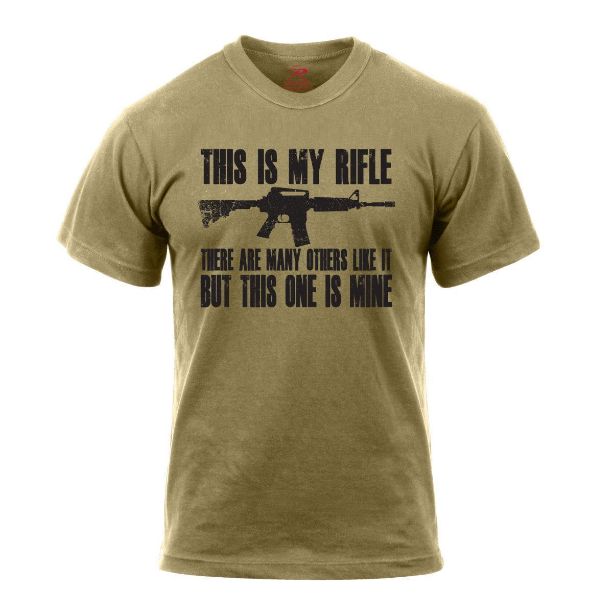 2019 Fashion Summer Style Rothco 'This Is My Rifle', Military, 2nd Amendment T-Shirt, Coyote Brown Tee Shirt