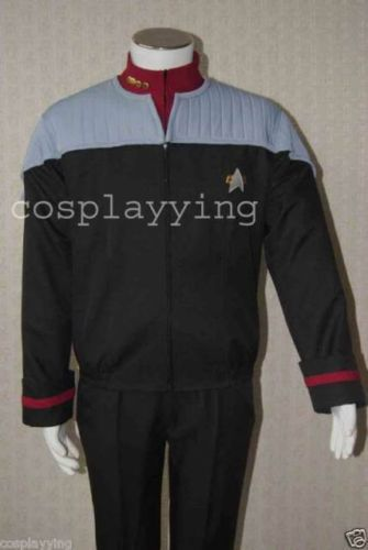Star Trek Nemesis Captain Sisko Uniform Coat Shirt Halloween Cosplay Costume For Men