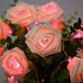 9 cores da moda iluminação do feriado 20 led novelty rose flor fada cordas luzes do partido do casamento do jardim decoração de dia dos namorados
