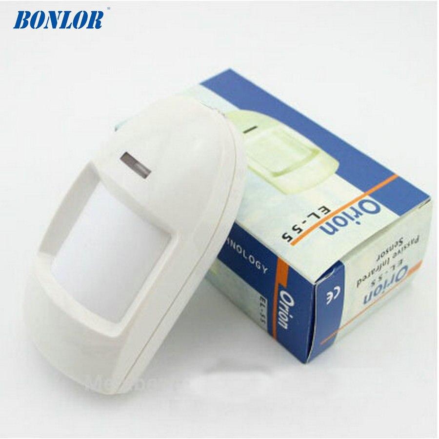 BONLOR (1 PCS)EL-55 Wired PIR Motion Sensor Detector 12V Input Temper Function Alarm Relay Contact Home Security Intruder Alarm