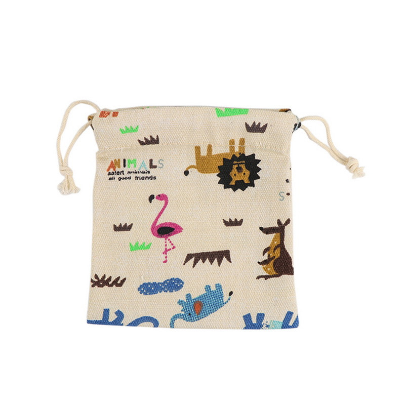 Laamei Brand Cartoon Coin Purse Women Animal Storage Bag Beam Pocket Drawstring Girls Change Purse Storage Female Money Bag