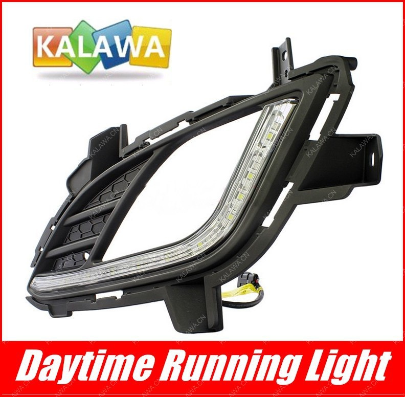 ФОТО Specific LED daytime running lights led DRL with automatic yellow turning single case for Hyun-dai Avante FREESHIPPING GGG